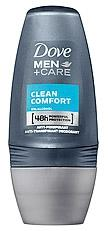 Dove men+ care deodorant roller clean comfort 50ml